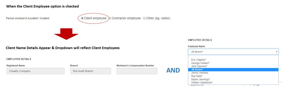 How does the Person Involved section work in the Incident tab of the PTW, in OHS Online?