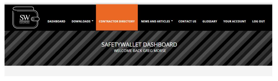 Where do I find my Contractor Directory in SafetyWallet?
