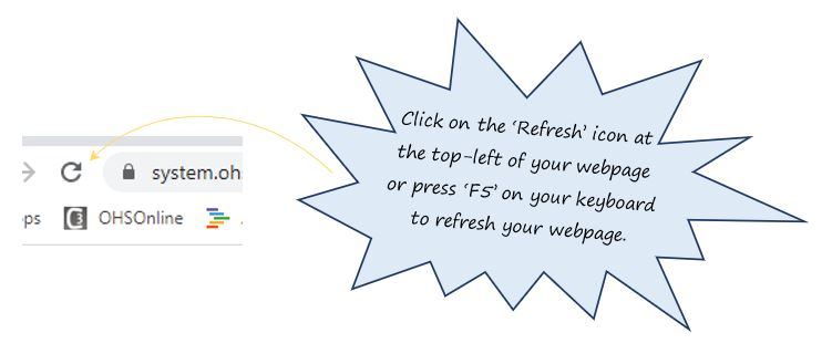 When I work in the Permit to Work (PTW) in OHS Online, why is it important for me to refresh the PTW regularly?