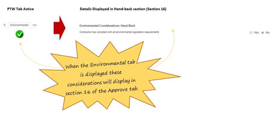 What are the layer effects of the Environmental tab, in OHS Online?
