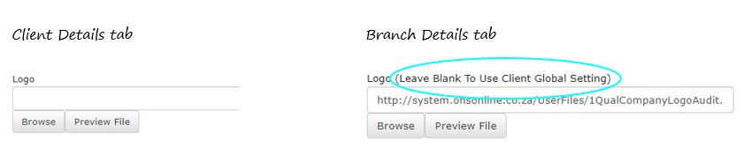 I have more than one branch to my company. Do I need to keep loading my company logo individually to each branch profile in OHS Online?